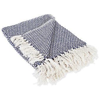 Dii nautische blau gewebt werfen Decke