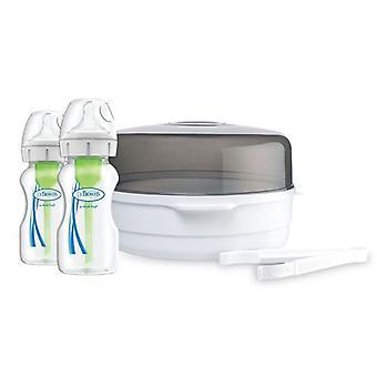 Dr brown's mikrovågssterilisator & alternativ+ flaskor 270ml 2pk