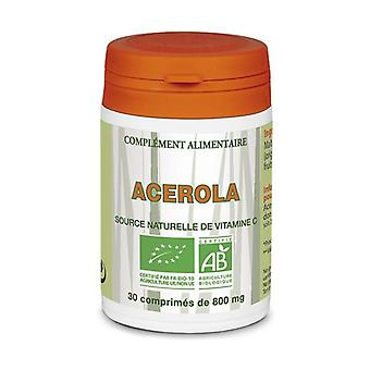 Organic Acerola 30 tablets of 800mg