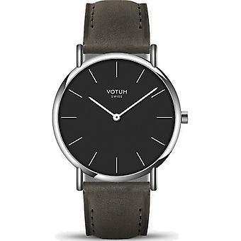 VOTUM - Unisex watch - SLICE - Pure - V04.10.20.05 - leather strap - grey-brown