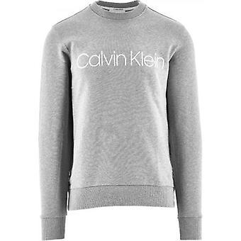 Calvin Klein Harmaa Puuvilla Logo Collegepaita