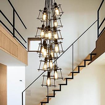 Retro Iron Chandeliers Creative Bar / Ravintolan led-valaistuslamppu