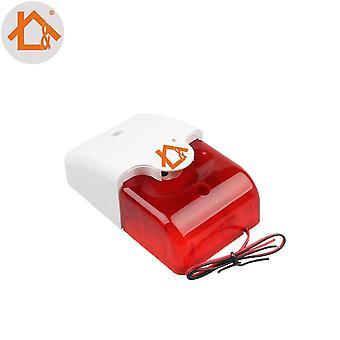 Mini wired Strobe Sirene langlebig 12v wired Sound Alarm Strobe blinkt rotes Licht