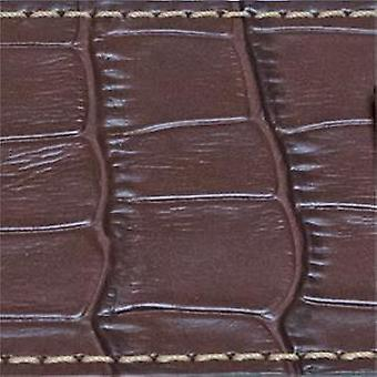 Cuff watch strap calf leather interchangeable ends bull or crocodile grain