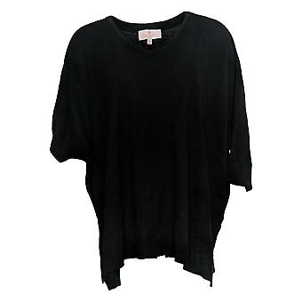 Laurie Felt Silky Bamboo Silky Smooth Pullover Sweater Black A385318