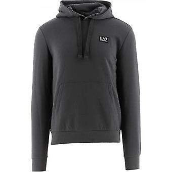 Sweat à capuche EA7 Grey Crew Neck Hooded
