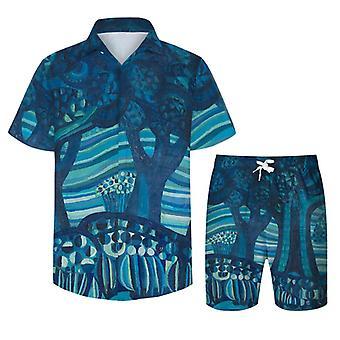 Allthemen Men's krátky rukáv príležitostné sady havajské gombík košele šortky