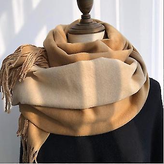 Women's Winter Koreaanse versie van dubbelzijdige solid color dual-use Bib Long Dikke Warme sjaal