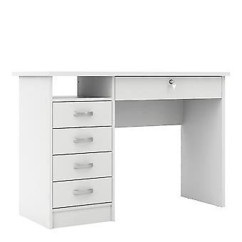 Fosy Desk 5 Drawers in White