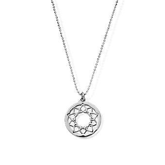 ChloBo Diamond Cut Chain With Heart Mandala Pendentif SCDC1468