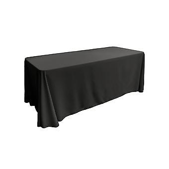 Mantel rectangular Poplin de poliéster de lino 90 por 132 pulgadas, negro