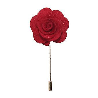 Handgemachte Blume/Rose Anstecknadel | Rot