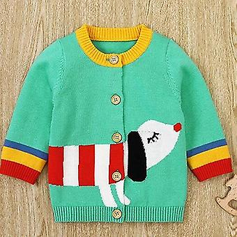 Autumn Baby, Knitted Cardigan Jackets, Winter, Infant Kids Sweaters, Long
