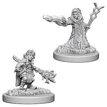 Marvelous Unpainted Minis Female Gnome Wizard di D&D Nolzur (Confezione da 6)