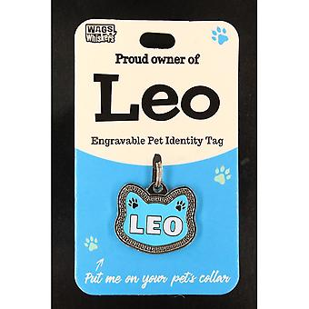 Wags & Whiskers Pet Cat Identitätstag - Leo