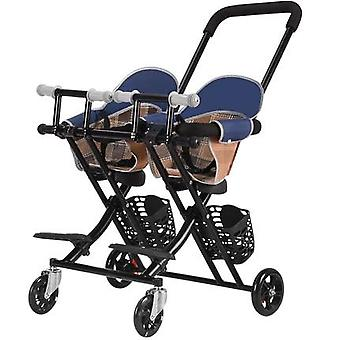 Twin Stroller Multifunction Baby Walking  Lightweight Folding Child Stroller