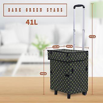 Shopping Carts, Super Loading Grocery, Foldable, Vegetables Bag With Extra
