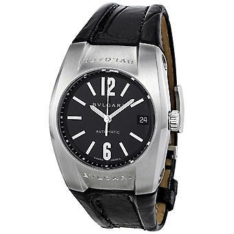 Bvlgari Eragon Black Dial Leather Men's Watch EG35BSLD