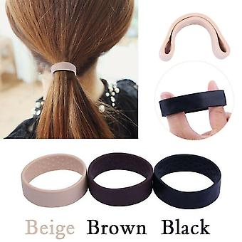 Black Foldable One Wide Pony Band Clip Wide Pony Hair Band O Hair Tie Band