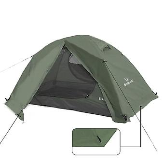 2p Backpacking, 4-season Tent With Snow Skirt, Double-layer Waterproof,