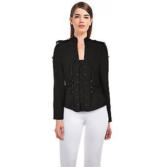 Chique ster plus size gotische jas in zwart