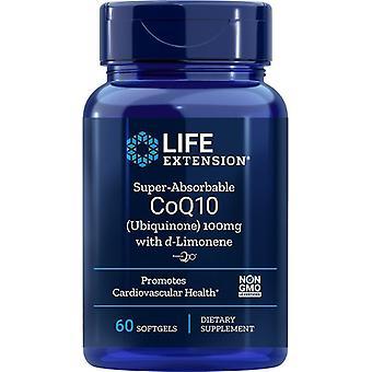D-リモネン100mgソフトゲル付き寿命延長超吸収性CoQ10(ユビキノン) 60
