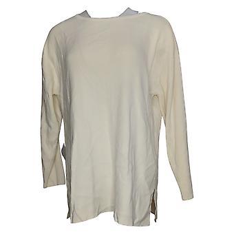 Joan Rivers Women's Sweater Wardrobe Builders Ballerina Neck Ivory A354917