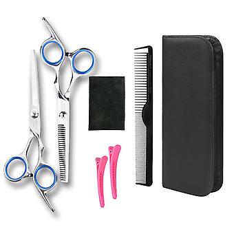 Haircut scissors straight snips thinning hairdressing barber tools lf28