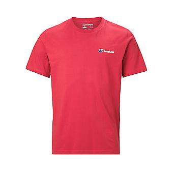 Berghaus logo delantero y trasero hombres manga corta camiseta casual camiseta roja