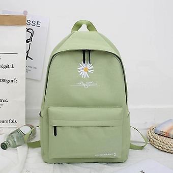 New Solid Backpack Girl School Bags For Teenage School Bag Nylon Daisy Printing Bag Black
