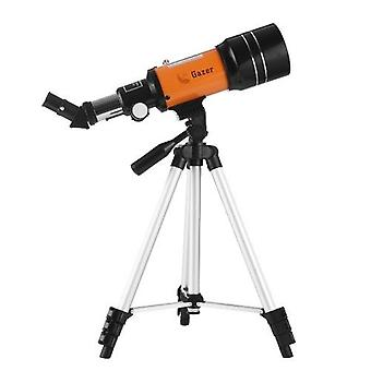 70mm天文望遠鏡150X高出力単眼望遠鏡屈折器スポッティングスコープ5×24ファインダースコープ三脚月フィルター3Xバーロウレンズスターウォッチングバードウォッチングキャンプ用