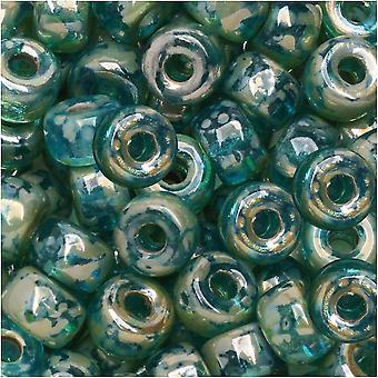 Tsjechisch Glas Matubo, 2/0 Zaadkraal, 20 Gram Tube, Aqua Rembrandt