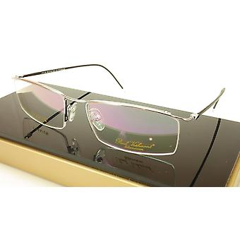 Paul Vosheront VT118 C2 Titanium Black Silver Eyeglasses Frame Italy