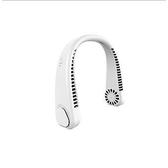 Biały bezłopatkowy wentylator na szyję360 ° chłodzący wiszący naszyjnik fanhands wolny akumulator mini x7953