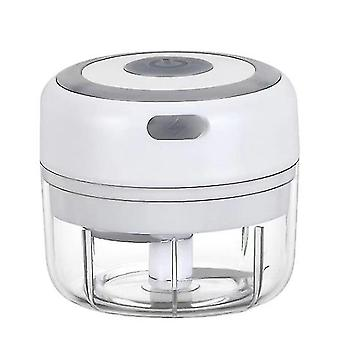 150Ml white mini rechargeable wireless electric garlic masher kitchen household tool meat grinder making complementary food az20306