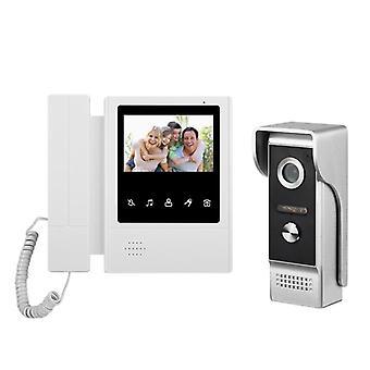 4.3 pulgadas de videoportero con cable sistema de timbre de intercomunicación visual