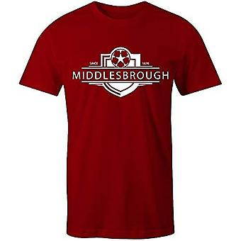 Sporting empire middlesbrough 1876 established badge football t-shirt