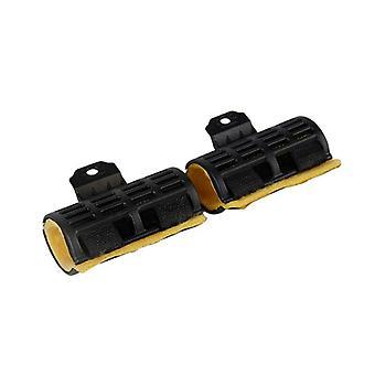 10pcs Digital Bar Perm Clip Wave Rod Roller mit Zinnfolie & Isolierung Baumwolle Mais Curler Maker