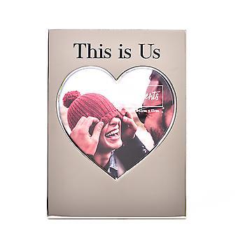 "Moments Silver Heart Frame 5"" x 5"" - Das sind wir"