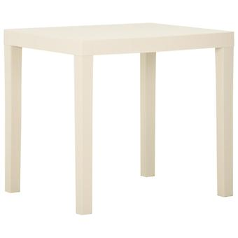 vidaXL Garden Table White 79x65x72 cm Plastic
