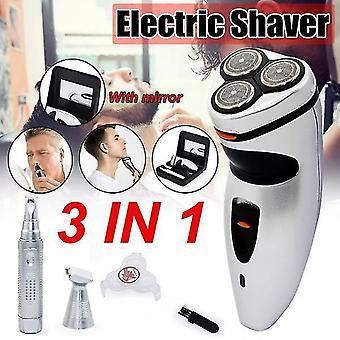 3 i 1 elektrisk barbermaskine hårtrimmer barbermaskine