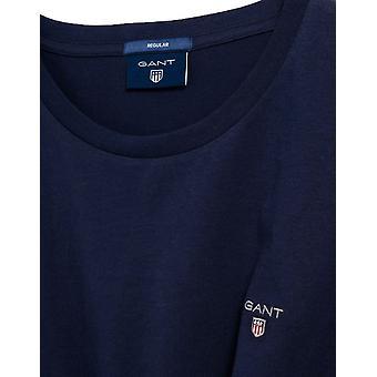 גאנט חולצת SS המקורית - כחול ערב