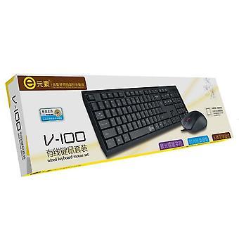 Tangentbord och mus combo Super Slim trådbunden multimedia QWERTY Vit tangentbord musuppsättning för dator