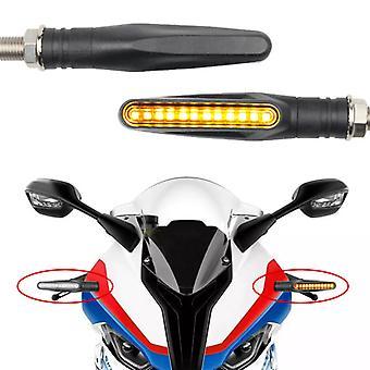 2PCS LED Moto Clignotants 12 SMD Tail Flasher Moto Clignotant Feux clignotants