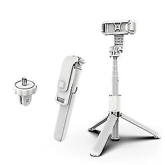 Extendable Selfie Stick Tripod£?Bluetooth Wireless Remote For Cell Phone(White)