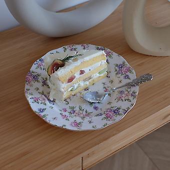 Rose Small Floral Phnom Penh Plate Ceramic Salad Pasta Cake Plate