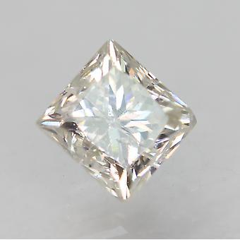 معتمد 0.58 قيراط E SI1 الأميرة تعزيز الماس فضفاضة الطبيعية 4.28x4.15mm