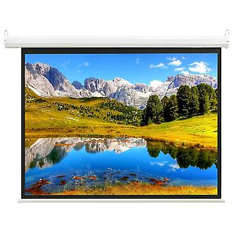 """Electric Projection Screen with Remote Control 59"""" 1:1 Display Screen"""
