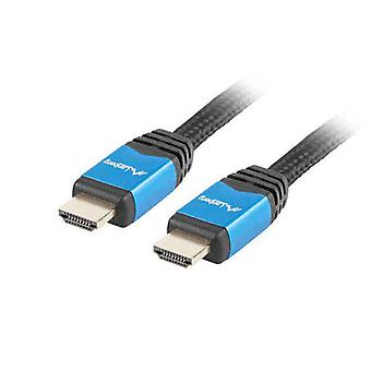 HDMI-kabel Lanberg 4K Ultra HD Hannplugg / Mannlig Plugg Svart