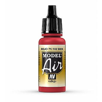 Vallejo Model Air 102 Red - 17ml Acrylic Airbrush Paint